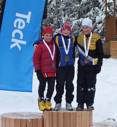 Nelson Luxmoore (left) with his podium mates. Photo courtesy of Sarah Newton
