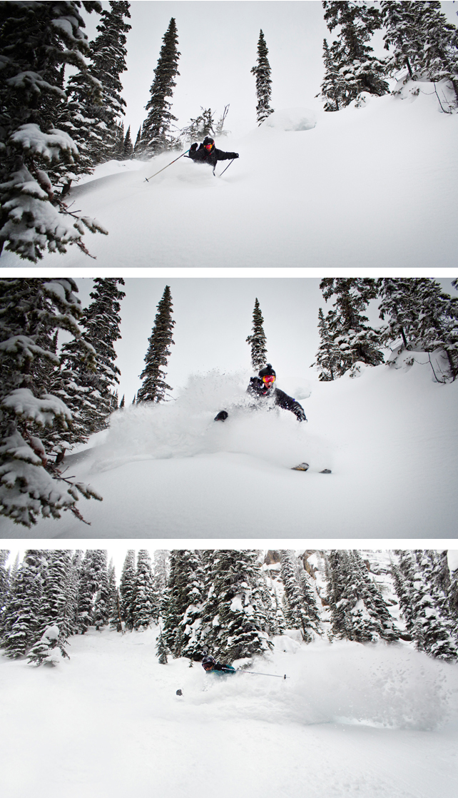 A massive winter storm hit Revelstoke Mountain Resort overnight resulting in unbelievable powder conditions after 27 cm of snow fell in 24 hours.  The storm delivered more snow to RMR than any other major ski resort in British Columbia and Alberta with double the amount of overnight snowfall than most.  More snow is forecast for this evening and daily into next week. Ian Houghton photos courtesy of Revelstoke Mountain Resort