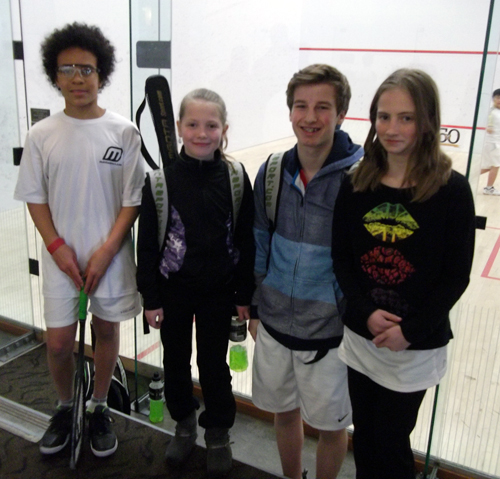 Our Junior Squash Program just returned from the BC Junior Open Squash Championships at the Jericho Club in Vancouver this past weekend. Gabriel Laidlaw, Tettey Tetteh, Julia Dorrius and Sophie Dorrius took part. This was a big step up in competition for the kids. Gabe Laidlaw took 2nd place in the Boys Under 15 B Division. Photo courtesy of Kevin Dorrius