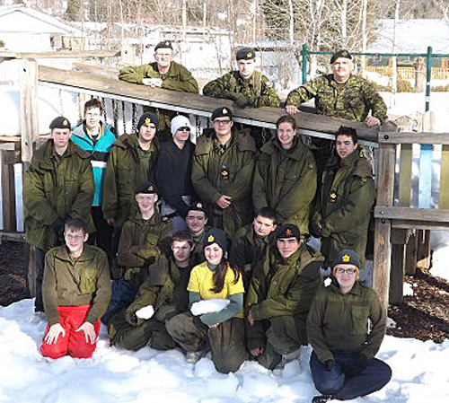 The combined Enderby and Revelstoke Cadet Corps. Ron and Xena Tilden photo