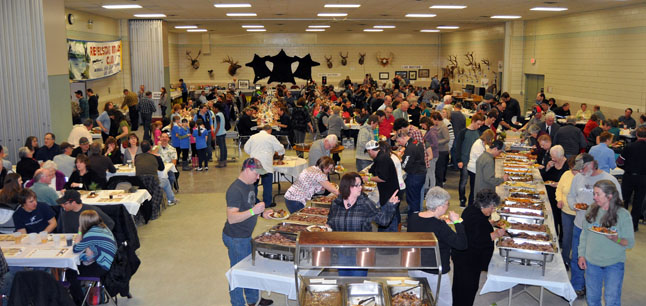 The 2013 Rod and Gun Club Banquet was a sell-out affairs that filled the Multi-Purpose Room at the Community Centre with outdoor enthusiasts and their families on Saturday evening. David F. Rooney photo