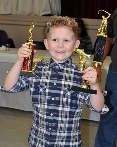 Kayser Cameron swept the Junior Kokanee Category with both first and second place. His first-place catch was 1 lb. and his second-place fish was 15 oz. David F. Rooney photo