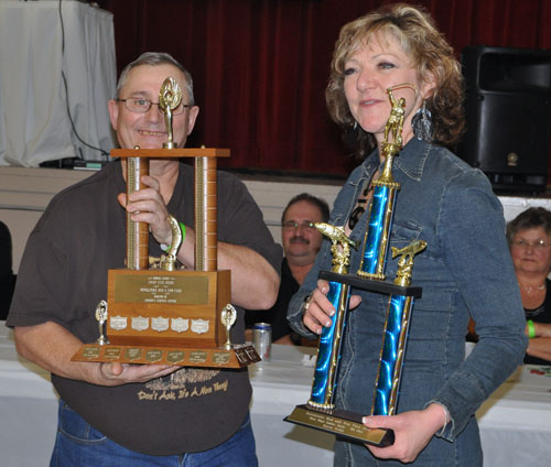 Karen Colby took first-place in the Women's Fish Category and the largest fish for the Ladies Sport Fishing Derby. Her catches were both 7 lbs. 14 oz. David F. Rooney photo