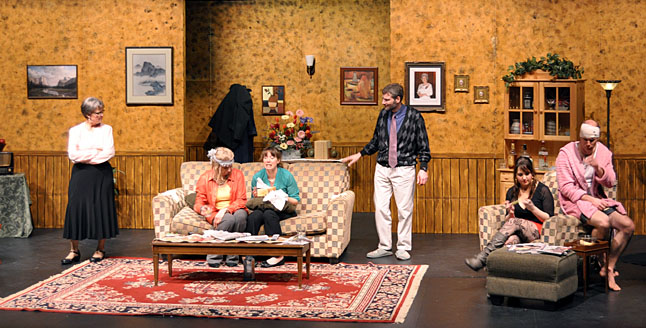 The Revelstoke Theatre Company's wickedly funny production of the British sex comedy, It's On, it's Off, will keep you laughing through its two acts. I don't know what it is about the Brits but their sex comedies are always very, very funny. And this one is no exception. David F. Rooney photo