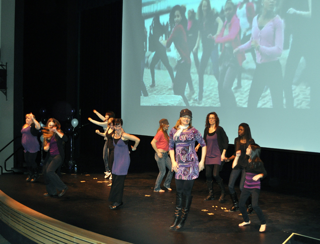 The Flash Mob Dancers pulled together for the Revelstoke Rising at the Performing Arts Centre started the 2.5-hour event with and energetic bang! David F. Rooney photo
