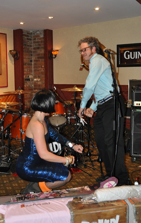 """Katie O'Connor was ready to rock. She actually won the Top Chick Contest with a bravura performance in the """"talent"""" portion of the event. You can see how she did that by going to The Current Video feature on the front page. David F. Rooney photo"""