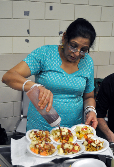 And where would the Carousel of Nations food court be without Pam Sanghera's fantastic Indian food? David F. Rooney photo