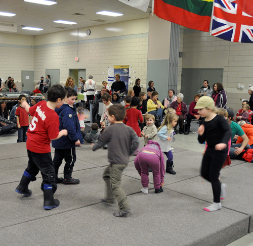 Inspired by all the semi-professional dancers at the Carousel of Nations these kids put on their own impromptu but inspired performance. David F. Rooney photo