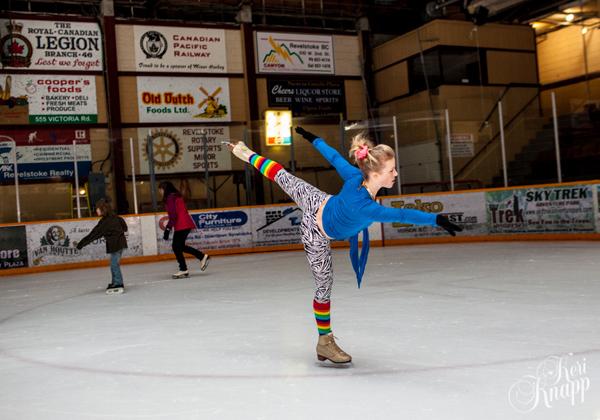 Charlene Mortensen dazzles the ice. Keri Knapp photo