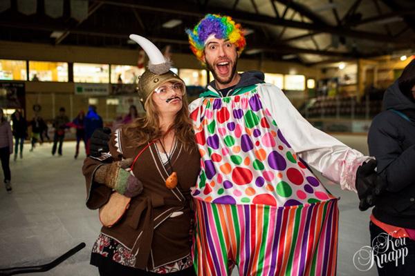 Jules Nichol and Joel Leblanc show off their amazing costumes. Keri Knapp photo