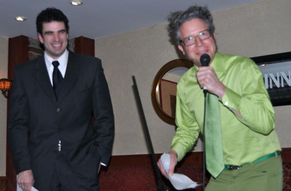 MC Jean-Marc Laflamme introduces mild-mannered contestant Devon Cole. David F. Rooney photo