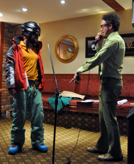 Contestants competed in different categories, including skiwear. These are Alec's duds. Jean-Marc especially liked his sense of colour. David F. Rooney photo