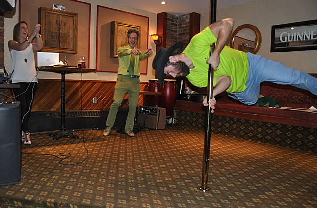 But it's hard to beat some guy who wants to do a pole dance. You gotta wonder where Voodoo picked this up. David F. Rooney photo