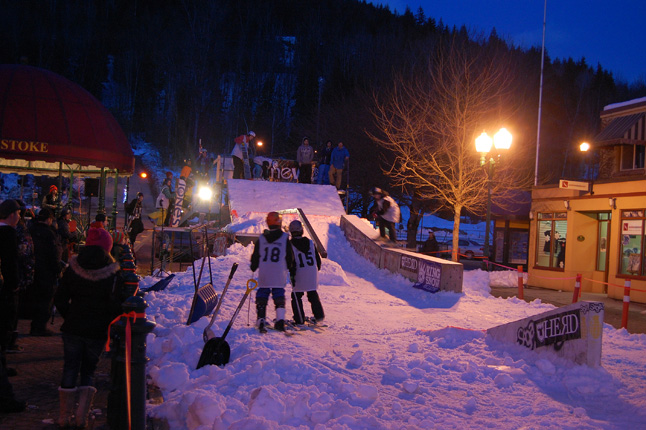 The Rail Jam attracted lots of boarders and skiers. David F. Rooney photo