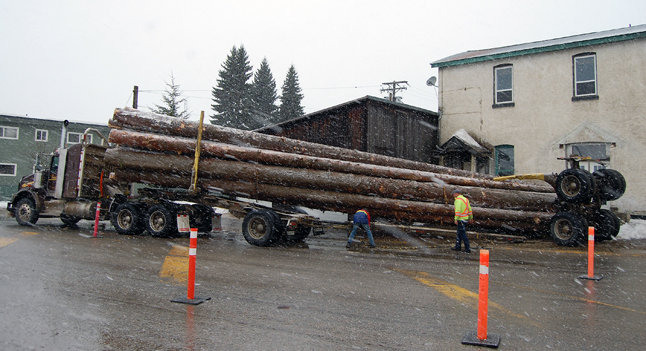 This is the second accident of its kind in recent weeks. Last month a logging truck lost its load at the Trans-Canada and Victoria Road. David F. Rooney photo