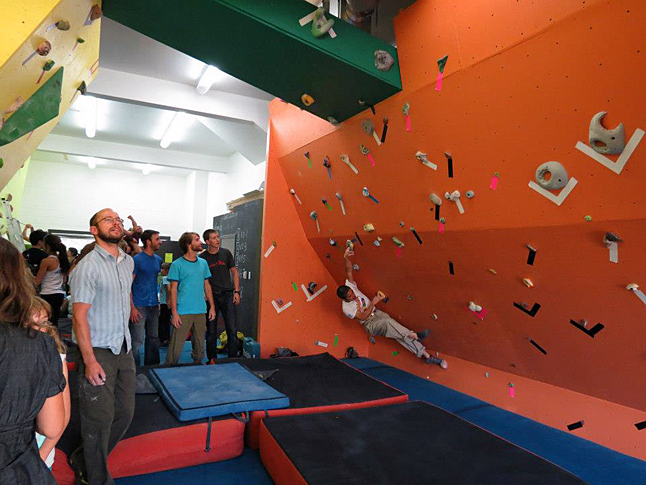 This image of the Canmore Bouldering Coop shows what's possible with simple materials and great imaginative powers. Canmore Bouldering Coop photo