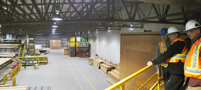 This is the view of the interior of Selkirk Cedar Products. David F. Rooney photo