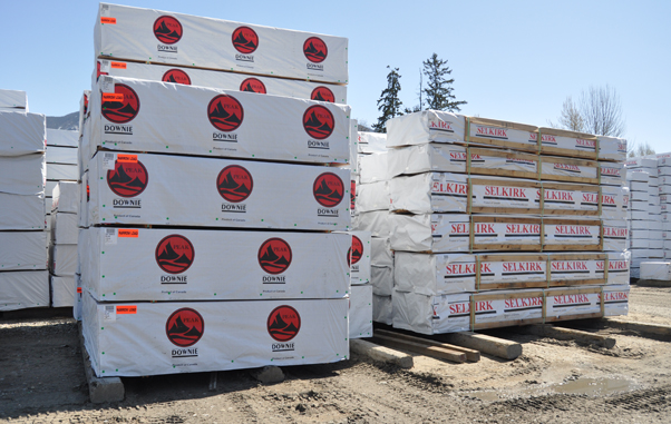 Downie and Selkirk products — everything from high-quality wood products to wood chips and shredded bark — are exported to markets in eastern Canada,  the United States, Japan, Korea. David F. Rooney photo