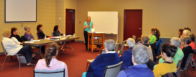 The Revelstoke Hospice Society's volunteers should always bear in mind the fact that there is no one way to mourn the dead and dying. Different people show their grief in different ways, social worker and counsellor Tuulikki Tennant told society members during their Annual General Meeting at the Community Centre last Wednesday, April 24.  David F. Rooney photo