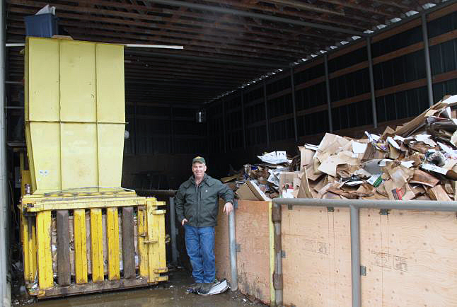 """Brett Renaud od Revelstoke's Bresco enterprise on Highway 23N says there should be no waste. """"The less greenhouse gases we use the better,"""" he says. Laura Stovel photo"""