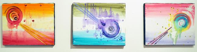 Solar Flares By Sarah Windsor Acrylic on canvas