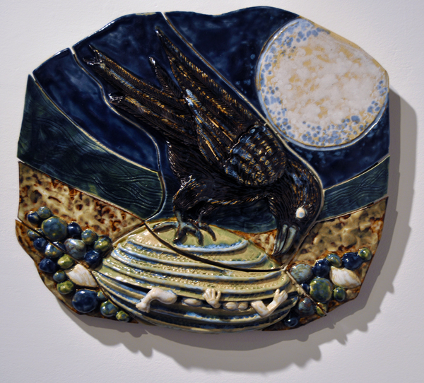 Raven and the First People By Nancy Geismar Ceramic