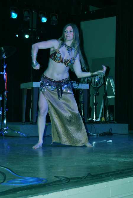 Kimberly Olson's belly dance was riveting! David F. Rooney photo