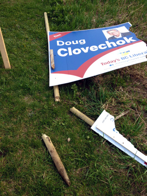 Peter Bernacki is so ticked off at people who think they have a right to destroy political campaign signs that he is offering a $500 reward for information leading to their identification, arrest and conviction. Peter Bernacki photo