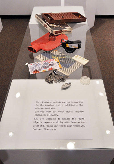 """Silversmith Julie James used these everyday objects as inspiration for her fine jewellery. """"Can you work out which objects inspired each piece of jewellery?"""" she asks art patrons. David F. Rooney photo"""
