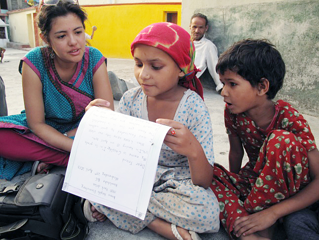 Arrow Heights students find pen pals in India   Legacy