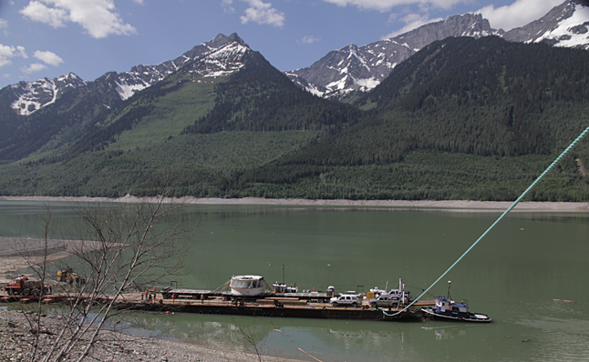 Here's a view of the loaded barge. Ron Ross photo courtesy of BC Hydro