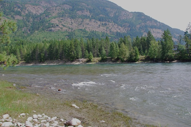 The Slocan River is yielding a number of important archeological sites. Here's the terrain across the river and downstream from the Lemon Creek dig being excavated by Dr. Nathan Goodale and his team from Hamilton College. Leslie Savage photo