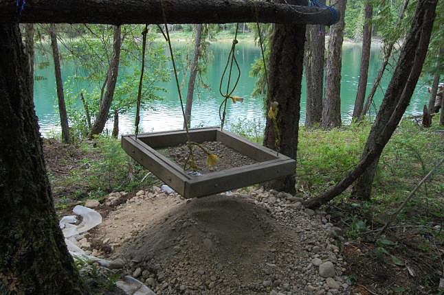 LEMON CREEK — This sifter is used to sift dirt and expose artifacts. Laura Stovel photo
