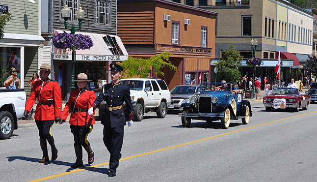 What's Canada Day without a parade? The Mounties led this year's parade downtown under a clear and very hot sky. David F. Rooney photo