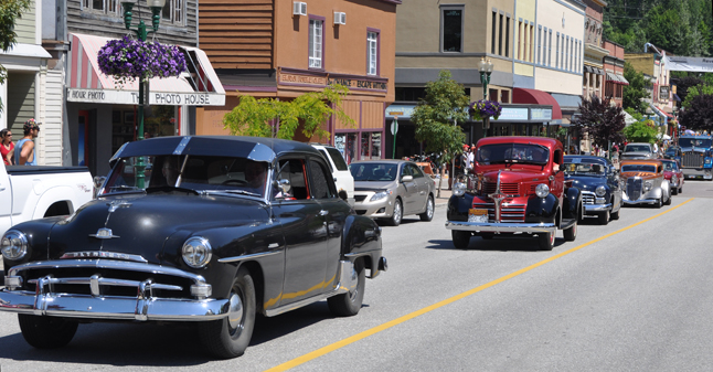 You can;t have a parade in Revelstoke without antique cars. David F. Rooney photo
