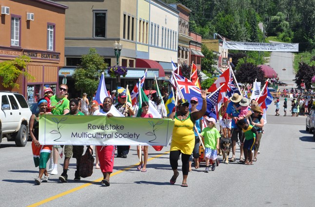 Multiculturalism was the theme for this year's parade and — not surprisingly — the Multcultural Society was out in force to celebrate.  David F. Rooney photo