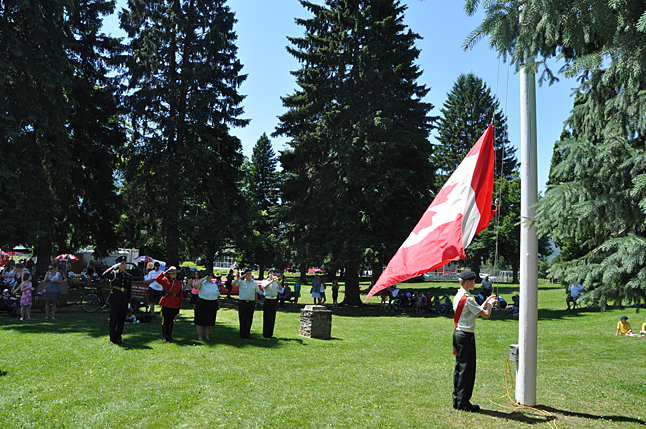 Revelstoke army cadets did a great job at the Canada Day celebration in Queen Elizabeth Park. David F. Rooney photo