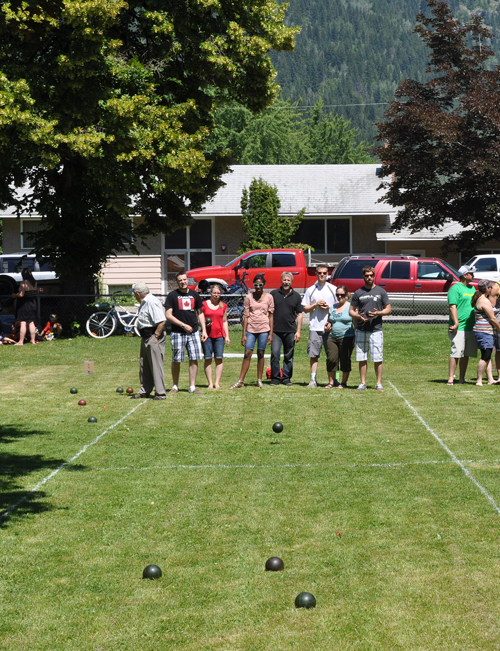 Canada Day just isn;t the same without a bocce tournament. David F. Rooney photo