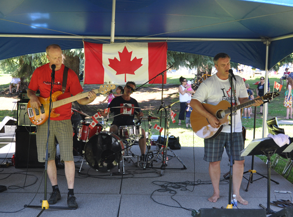Revelstoke's Maritime Kitchen Party provided some great music for the Canada Day Party at Queen Elizabeth Park. David F. Rooney photo