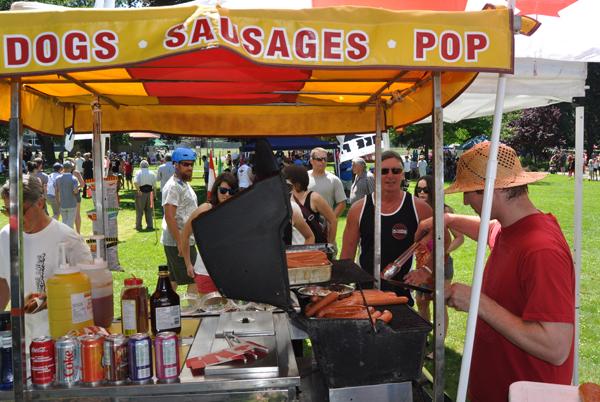 Scott Duke's smokies and dogs were awfully popular. David F. Rooney photo