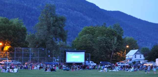 Hundreds of people ended their Canada Day celebration with the outdoor screening of The Great and Powerful Oz. David F. Rooney photo