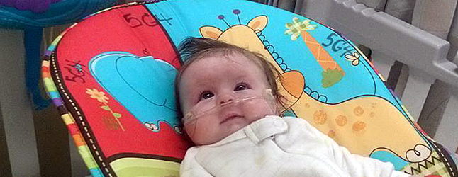 Friends of Cory Beisel and Whitney Kendrick are going all out to hold a fundraising concert this coming Sunday to help the young couple whose four-month-old daughter Neve is so far spending much of her young life in hospital. Photo courtesy of Rubyanne Meda
