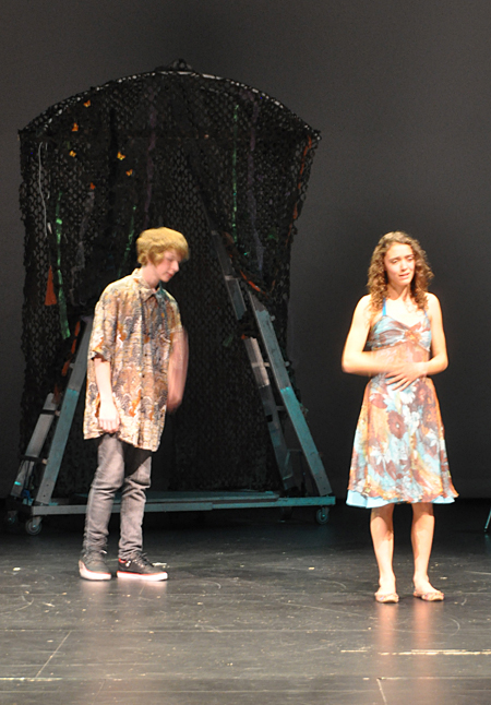 Grayson Noseworthy and Hailey Christie-Hoyle play two of the young lovers. David F. Rooney photo
