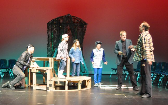 The professional actors worked well with the kids in this play.  David F. Rooney photo