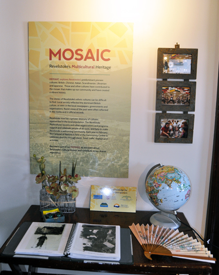 The displays for MOSAIC were designed by Claire Cavisley, a design student from Vancouver's Emily Carr University of Art + Design who has been at the Museum this summer. David F. Rooney photo