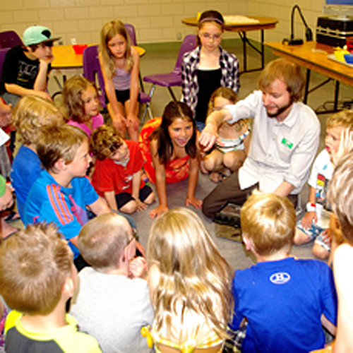 The Summer Reading Club kids talked with a staffer from the Okanagan Science Centre about the insects that share the world with us. Lucie Bergeron photo