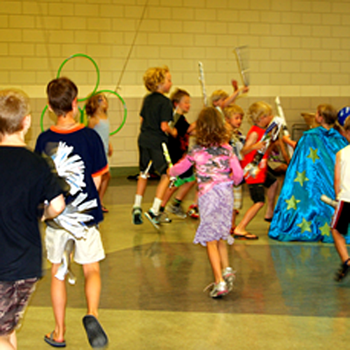 Kids everywhere enjoy the Harry Potter series. And the kids in the Okanagan Regional Library's Summer Reading Club had fun pretending they were playing the quidditch game that featiures in any of the Harry Potter novels. Lucie Bergeron photo