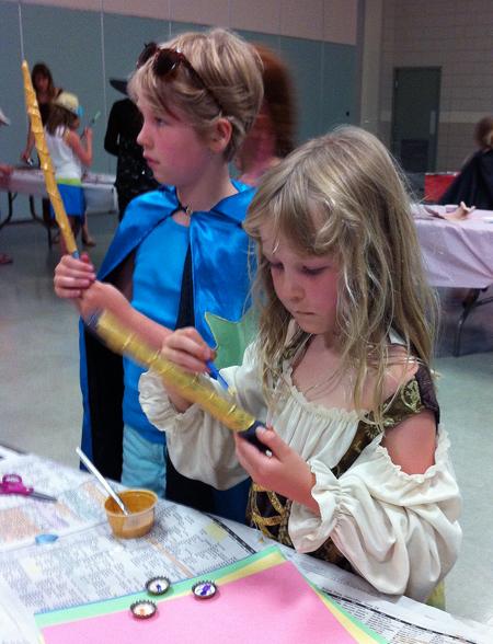 A stick + some gold paint + a vivid imagination = a wizard's wand. Photo courtesy of Kendra Runnalls/Okanagan Regional Library