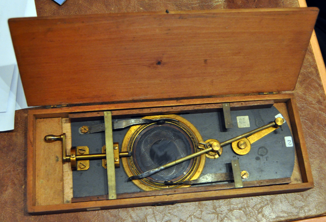 This is a 19th Century Cycloidotrope. This rare device was an entertainment device from the 1870s. It will be demonstrated during this year's Railway Days Magic Lantern Show on Saturday, August 17. David F. Rooney photo