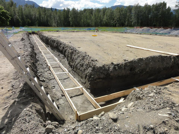 Work on the Selkirk Saddle Club's new riding arena continued apace last month. Photo courtesy of Tanya Secord
